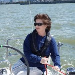 Lisa Chapin of San Francisco merges her work, as owner of a boat-membership franchise, almost completely with her personal life