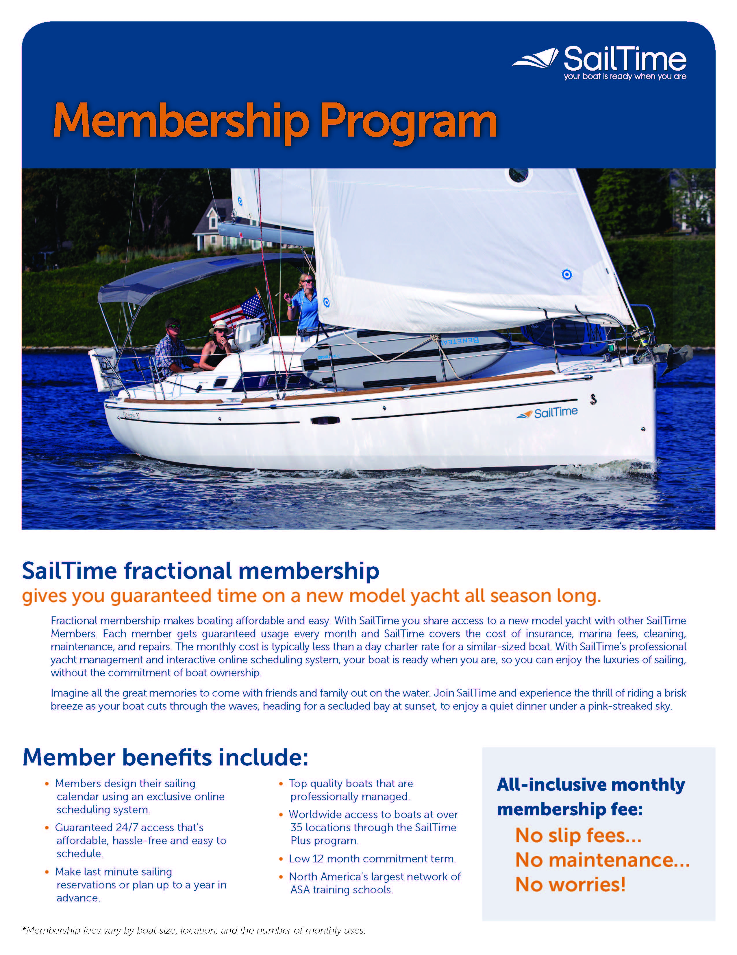 SailTime Membership Brochure (PDF)