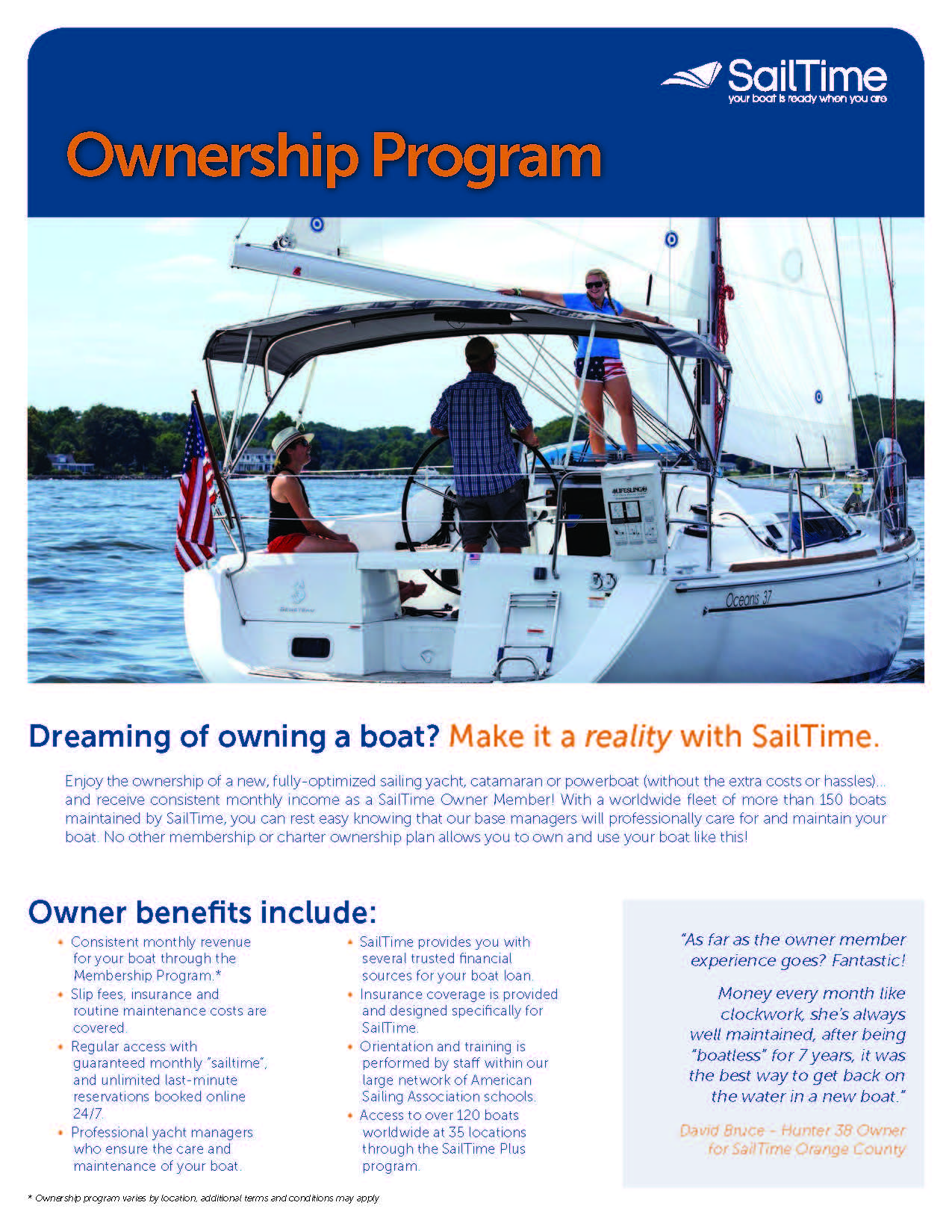 SailTime Ownership Brochure (PDF)
