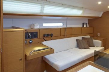 Sun Odyssey 379 Interior cabin living space.